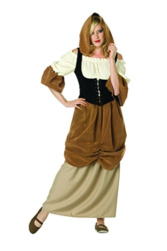 RG Costumes Women's Hooded Colonial Peasant Female