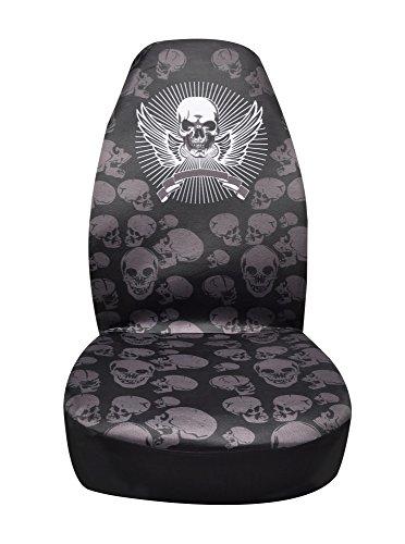 Coprisedile-anteriore-universale-Teschio-panno-Proteggi-Sedile-per-auto-con-volante-sedili-Cintura