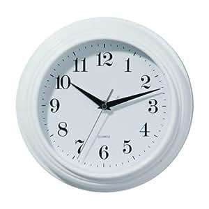 Premier Housewares Horloge murale vintage Blanc 26 cm