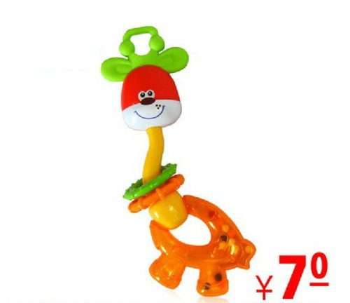 Free ship Deer rattles green baby educational toys Rattles Teethers