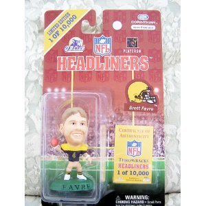 1997 Corinthian NFL Headliners Limited Edition Throwbacks Headliners - Brett Favre - Green Bay Packers - 1