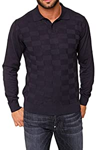 Cortigiani Polo Neck Pullover MARCELLO, Color: Dark blue, Size: S