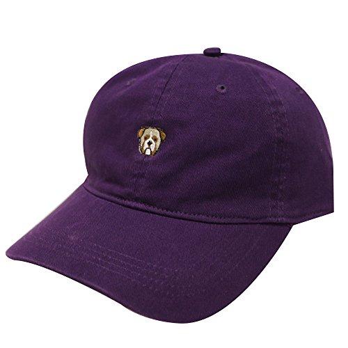 C104 Bulldog Small Embroidered Cotton Baseball Cap 8 Colors (Purple) (Cap Bulldog compare prices)