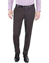 Only Vimal Men's Charcoal Black Slim Fit Formal Trouser - B01H1XW4TI
