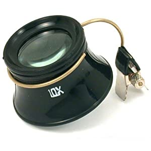 10x Clip-On Eye Glasses Loupe Jewelers Opti Magnifier