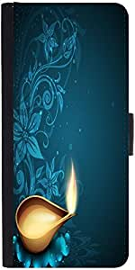 Snoogg Greeting Card For Diwali Celebration In India Designer Protective Phone Flip Case Cover For Huawei Honor 5X