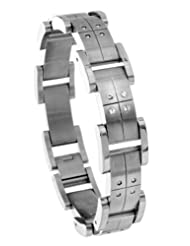 Oliver Weber Steel Collection 505 Stainless Steel Swarovski Crystal Men's Bracelet Length 20.5 cm + 4.5 cm extender