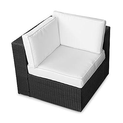 XINRO (1er) Polyrattan Lounge Eck Sessel - Gartenmöbel Ecksessel Rattan - durch andere Polyrattan Lounge Gartenmöbel Elemente erweiterbar - In/Outdoor - handgeflochten von XINRO bei Gartenmöbel von Du und Dein Garten