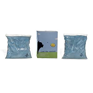 Just the Crystals® Premium Crystal Cat Litter -- Fragrance Free with 2 Individual 4.4 Pound Bags Per Box (Total 8.8 Pounds)