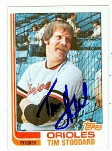 Autograph Warehouse 61548 Tim Stoddard Autographed Baseball Card Baltimore Orioles 1982 Topps No. 457