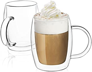Set-of-2 JoyJolt Double Wall Insulated Glasses Cup/Mug