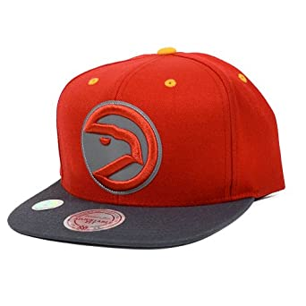 Atlanta Hawks Mitchell & Ness XL Logo Reflective Snapback Hat by Mitchell & Ness