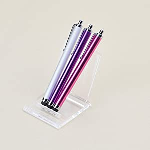 3 in 1 Bundle Stylus / Styli Pen - Silver Pink Purple - for iPod Touch 3g, 4g, Motorola Xoom iPad 2 Kindle Fire Nook eBook Reader Andriod Tablet Touchscreen and Cell Phone iPhone 3G / 3GS /4 / 4S, Samsung Galaxy S2, Note, Motoroal Driod 4, RAZR, Bionic, HTC Evo 4G, Blackberry, LG Connect, Samsung Attain, New iPad3 Universal Colored Stylus Pen