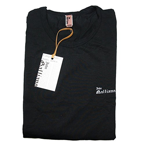 A0556 maglia uomo JOHN GALLIANO UNDERWEAR nero t-shirt men [Medium]