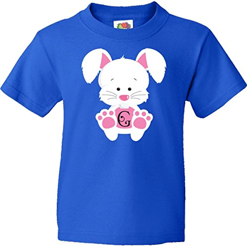 Inktastic Big Boys' Easter Bunny Letter G Monogram Youth T-Shirts Youth Xl Royal Blue back-950162