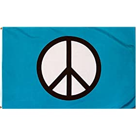 Peace Sign Standard (Blue) Flag: 3x5 foot Poly