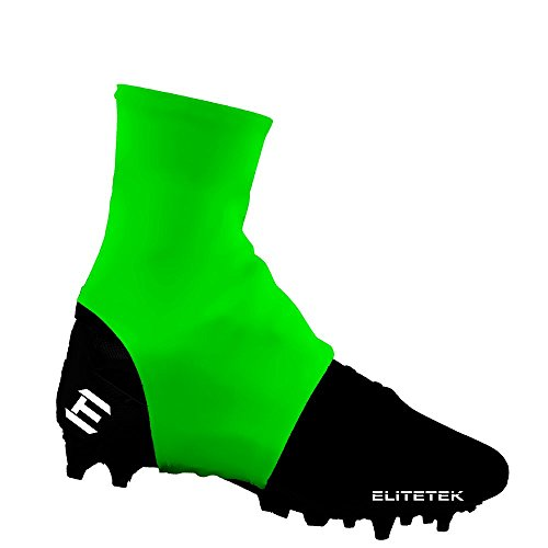 EliteTek Cleat Covers / Spats - Youth & Adult Sizes (Large, Neon Green) (Neon Green Football Cleats compare prices)