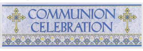 Holy Communion Giant Sign Banner 20 x 65 inches
