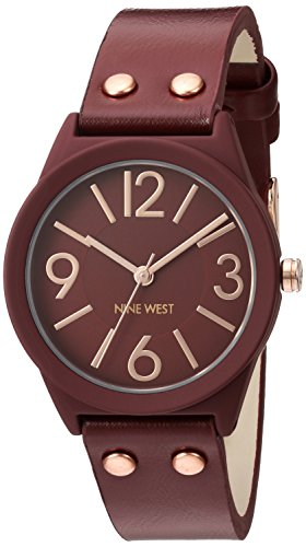 nine-west-womens-quartz-watch-with-red-dial-analogue-display-and-red-polyurethane-strap-nw-1932rdrg