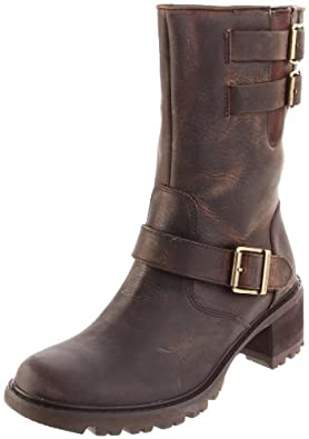 Rockport Women's Anna Motor Boot,Luggage Distressed Leather,10 M US