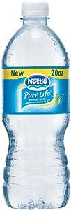 Nestle Pure Life Bottled Water, 20-Ounce Flat Cap Bottles (Pack of 24)