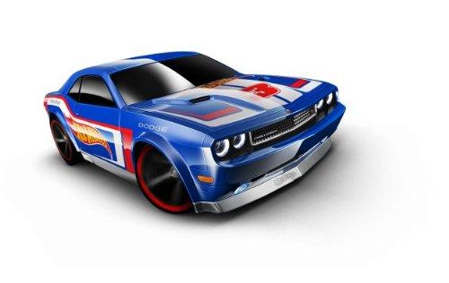 Hot Wheels - '08 Dodge Challenger Srt8 (Blue W/ White Interior) - Hw Racing 12 - 5/10 ~ 175/247 [Scale 1:64]