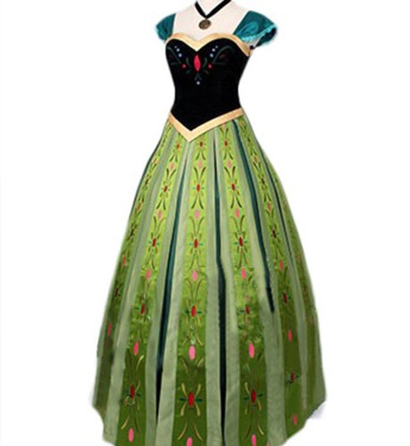 Doremo global コスプレ衣装 アナと雪の女王 Frozen アナ Anna 風 プリンセス アナ ドレス コスプレ衣装 大人用 (S, 女性)