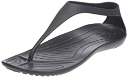 crocs Women\'s Sexi Flip,Black/Black,7 M US