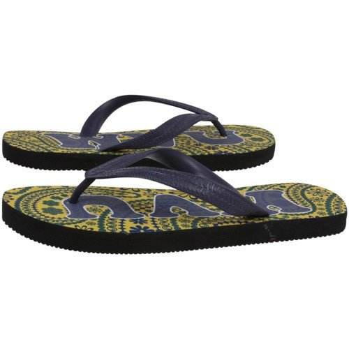 Cheap NCAA West Virginia Mountaineers Ladies Old Gold-Blue Vintage Paisley Flip Flop (B003WHRM7M)