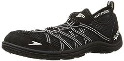 Speedo Men\'s Seaside Lace 4.0 Water Shoe, Black, 12 M US