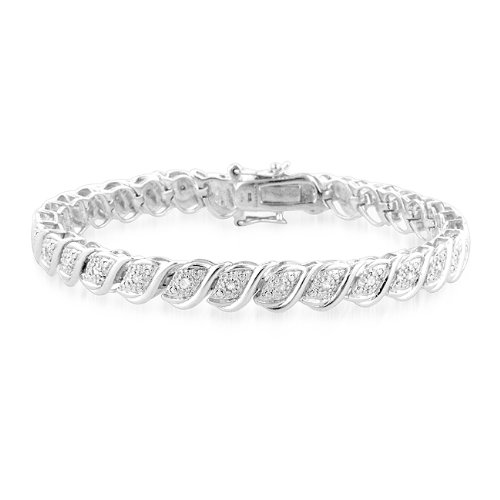 0.50 Carat tw Diamond Tennis Bracelet in Sterling