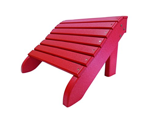 faf060e41c68 Perfect Choice Foot Stool for Cardinal Red Folding Adirondack Chair