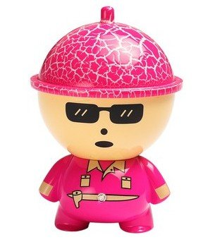 Big Head Cartoon Doll Car Charger- Hot Pink - 2.1A- For Apple Iphone 6 5S 5C 5, Ipad Air Mini, Galaxy S5 S4 S3, Note 3 2, Lg G3, Camera Battery Charger, Htc One M8, Ps Vita, Moto X, And More