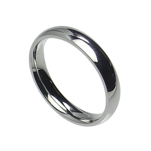 3mm Stainless Steel Comfort Fit Plain Wedding Band Ring Size 3-10 (11)