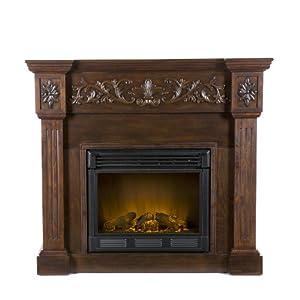 SEI Calvert Electric Fireplace, Espresso