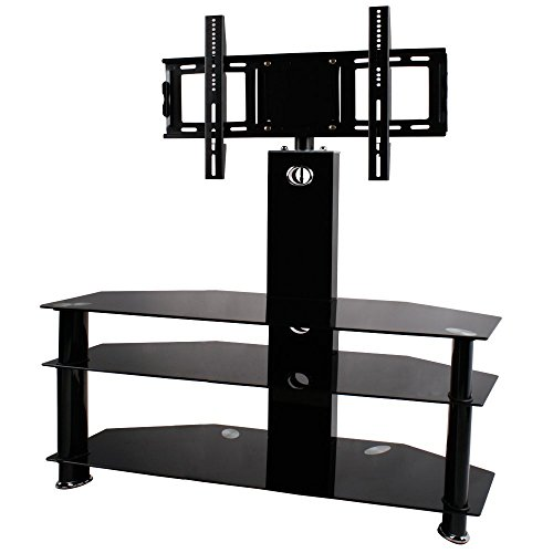 bps-30-60-tv-stand-3-shelves-cantilever-glass-with-swivel-tv-wall-bracket-mount-for-samsung-lg-sony-
