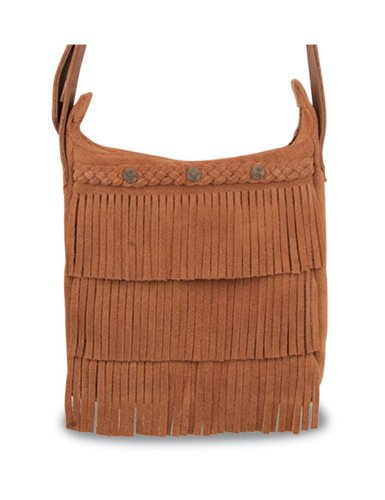 Minnetonka Fringe Handbag,Brown,One size