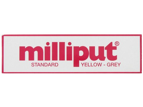 Milliput Standard 2-Part Self Hardening Putty, Yellow/Grey