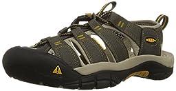 KEEN Men\'s Newport H2 Sandal, Raven/Aluminum, 10.5 M US