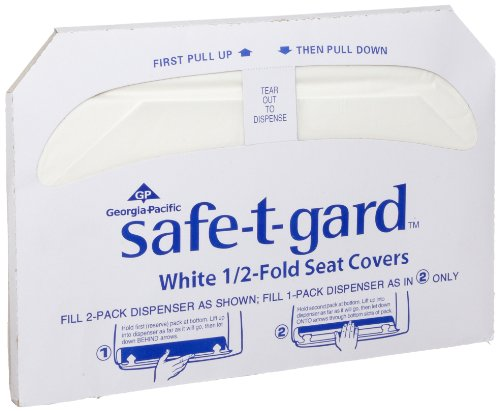 Georgia Pacific Safe T Gard 47052 White 1 2 Fold Toilet Seat Cover