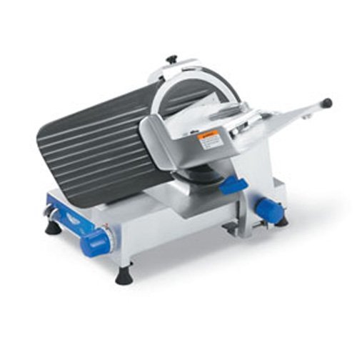 Vollrath 40799 Heavy Duty Gear Driven Electric Food Slicer With Non-Stick Finish, 12-Inch