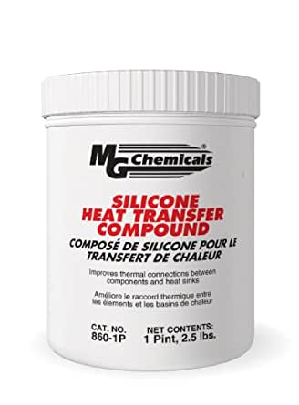 MG Chemicals 860 Silicone Heat Transfer Compound, 1 pint Tub, White