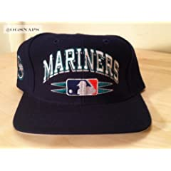 Seattle Mariners Vintage Blue Spike Snapback Hat by Logo Athletic