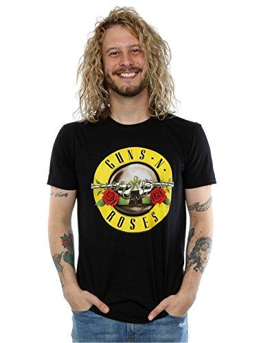 Guns N Roses Uomo Bullet Logo T-Shirt XX-Large Nero