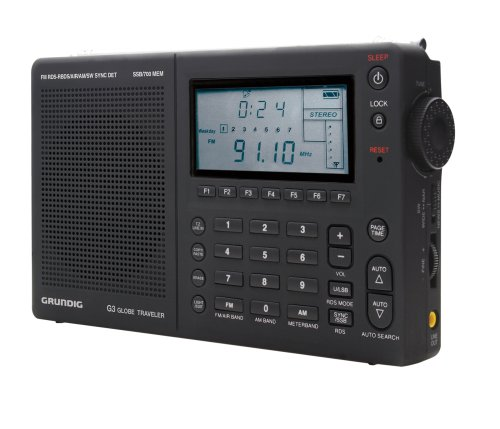Grundig Globe Traveler G3 Portable AM/FM/Shortwave Radio, Black - (NG3B)