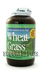 Pines International Wheat Grass Powder 500 mg 500 tabs
