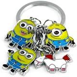 Despicable Me toys Keychain Set - Dave, Jorge, Stewart, Agnes the Unicorn