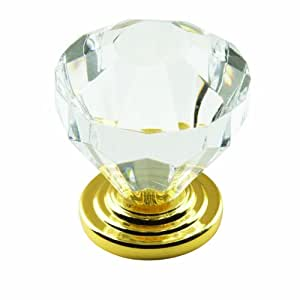 Amerock BP14303CBB Traditional Classics Knob with Acrylic Base, Crystal, 1.25-Inch Diameter
