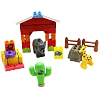Safari Tree House Building Block 18 Pieces Duplo Compatible Toy Set For Kids Exploring Playtime