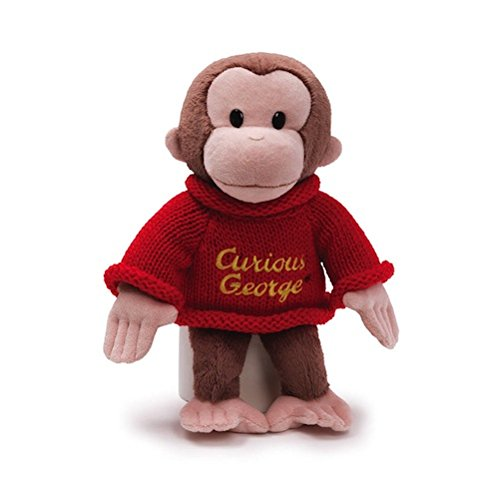 "Encore Gund Plush Stuffed Curious George Red Sweater 12"" front-890641"